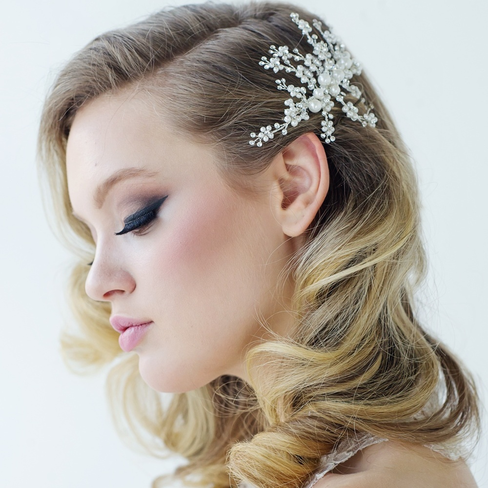 bridal hair comb, bridal headpiece