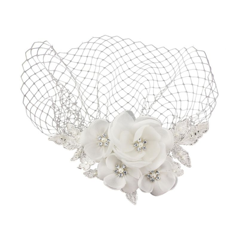 Vintage Wedding Headpieces: Birdcage Veil Bridal Heapiece Vintage Headpiece