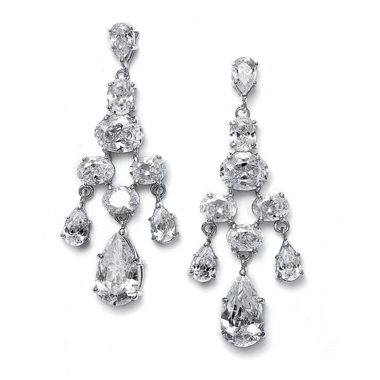 Crystal Chandelier Bridal Earrings,  Wedding Earrings