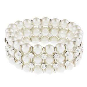 Sophia Ivory Pearl and Crystal Wedding Bracelet, wedding jewellery