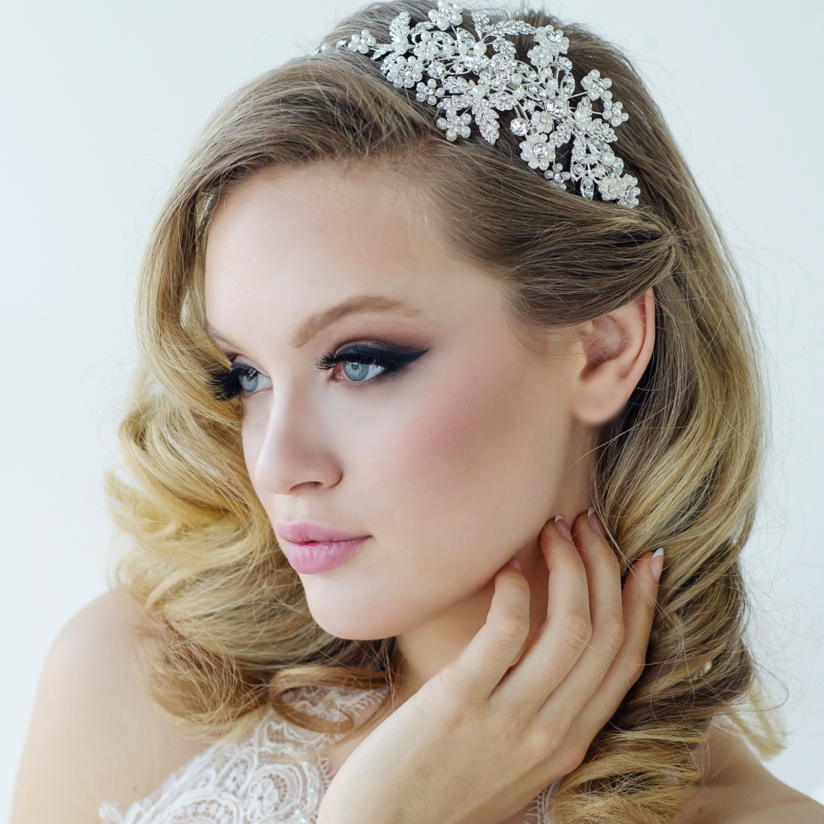 crystal bridal headbands | pearl wedding headbands - page 2